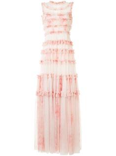 Needle & Thread платье Memory Rose из тюля