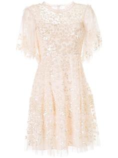 Needle & Thread платье Honesty Flower с пайетками