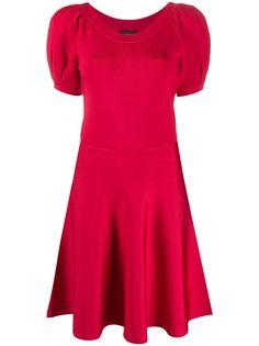 Emporio Armani платье мини с пышными рукавами