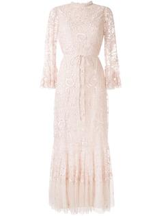 Needle & Thread вечернее платье с цветочной вышивкой