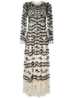 Needle & Thread вечернее платье из тюля с цветочной вышивкой