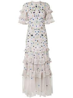 Needle & Thread платье с пайетками и оборками