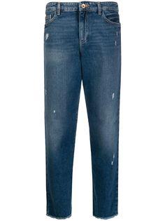 Emporio Armani джинсы прямого кроя с эффектом потертости
