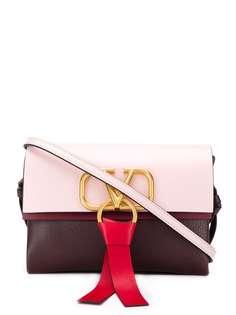 Valentino сумка с металлическим логотипом