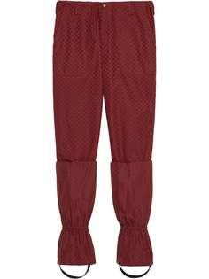 Gucci брюки с узором GG