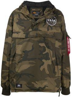Alpha Industries спортивная куртка с камуфляжным принтом
