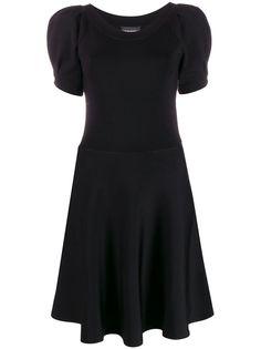 Emporio Armani платье с пышными рукавами
