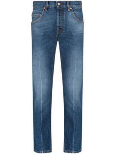 Gucci укороченные джинсы кроя слим