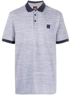 Boss Hugo Boss рубашка поло с нашивкой-логотипом и полосками