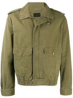 Saint Laurent легкая куртка с накладными карманами