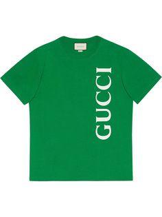 Gucci футболка оверсайз с логотипом