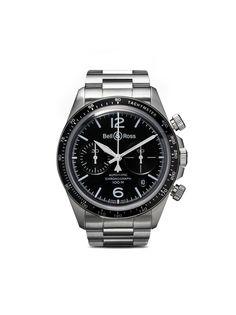 Bell & Ross часы BR V2-94 Black Steel Chronograph