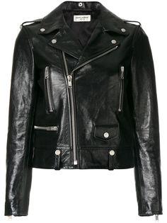 Saint Laurent классическая байкерская куртка