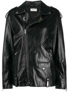 Saint Laurent байкерская куртка оверсайз