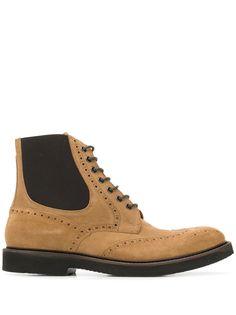 Eleventy ботинки на шнуровке с перфорацией