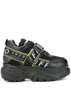 Buffalo кроссовки на платформе с пряжкой