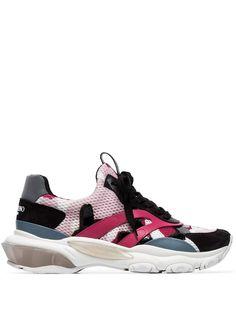 Valentino кроссовки с камуфляжным принтом