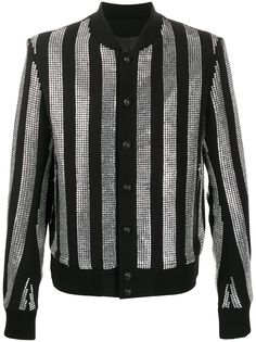 Balmain куртка в полоску со стразами