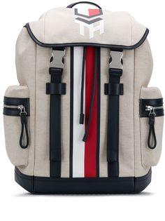 Tommy Hilfiger парусиновый рюкзак с контрастными полосками и логотипом