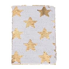 Записная книжка подарочная формат а5 80 листов, линия, пайетки ночное небо Calligrata