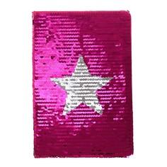 Записная книжка подарочная формат а5 80 листов, линия, пайетки звезда Calligrata