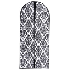 Чехол для одежды (спанбонд) 60х137см, цвет бело-черный Доляна
