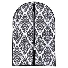 Чехол для одежды (спанбонд) 60х90см, цвет бело-черный Доляна
