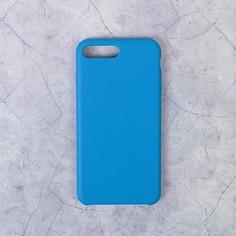 Чехол luazon силиконовый iphone 7 plus/8 plus, синий
