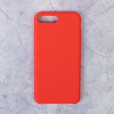 Чехол luazon силиконовый iphone 7 plus/8 plus, красный