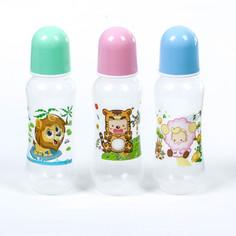 Набор бутылочек для кормления, 240 мл, от 0 мес., 3 шт., цвета микс