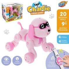 Робот-собака, радиоуправляемый charlie, световые и звуковые эффекты, русская озвучка Woow Toys