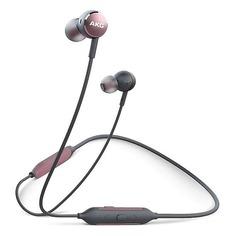 Наушники SAMSUNG AKG Y100 Wireless, Bluetooth, вкладыши, розовый/черный [gp-y100hahhbaa - promo]