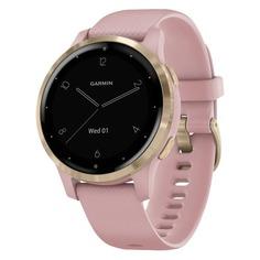 """Смарт-часы GARMIN Vivoactive 4s, 40мм, 1.1"""", розовый/розовое золото / розовый [010-02172-33]"""