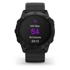 """Смарт-часы GARMIN Fenix 6x pro, 51мм, 1.4"""", черный / черный [010-02157-01]"""