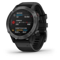 """Смарт-часы GARMIN Fenix 6 pro, 47мм, 1.3"""", черный / черный [010-02158-02]"""