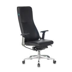 Кресло руководителя БЮРОКРАТ _ARTI, на колесиках, кожа, черный [_arti/black]