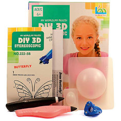 "3Д ручка DIY 3D Stereoscopic ""3D Magic Glue"" Бабочка, 2 ручки"
