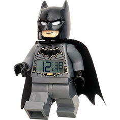 "Будильник LEGO DC Comics Super Heroes ""Минифигура Бэтмен"", свет/звук"