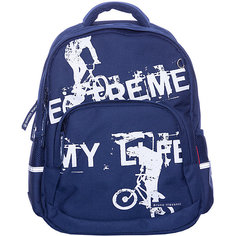 Рюкзак BrunoVisconti «Экстрим. Велосипед», синий