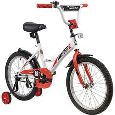 Велосипед Novatrack Strike 18 дюймов, белый-красный