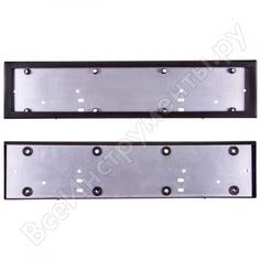 Рамка для номера skyway металл, антивандал, черная, без надписи с крепежом s04101004