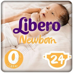 Подгузники libero baby soft ньюборн 0 до 2,5 кг 24шт гл-00027916