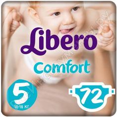 Подгузники libero комфорт 5 макси+ 10-16 кг 72шт гл-00014907