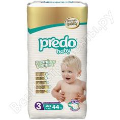 Подгузники predo baby преимущественная пачка № 3 4-9 кг. средний а-103
