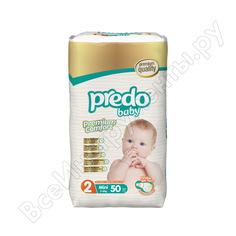 Подгузники predo baby преимущественная пачка № 2 3-6 кг. мини а-102