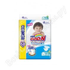 Подгузники goo.n l 9-14 кг, 68 шт. 100000720