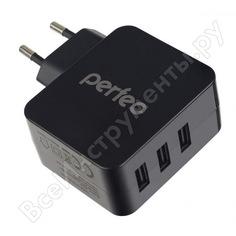 Сетевое зарядное устройство perfeo с разъемом 3xusb 4.8а черный cube 3 pf_a4135 30011217