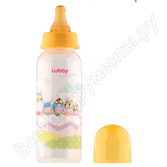 """Бутылочка для кормления с соской молочной """"веселые животные"""" lubby от 0 мес., 250мл /12 13564 нд"""