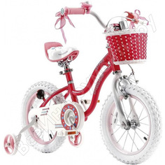 """Велосипед royal baby stargirl steel 14"""", стальная рама rb14g-1 малиновый"""