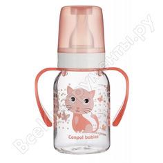 Тритановая бутылочка canpol babies 120 мл. 3+ cheerful animals, цвет: розовый 250989486